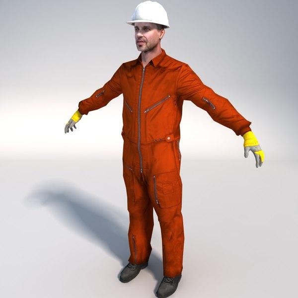 Offshore Worker01 3D Models