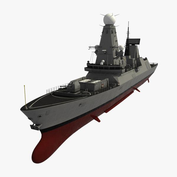 Type 45 Destroyer 3D Models