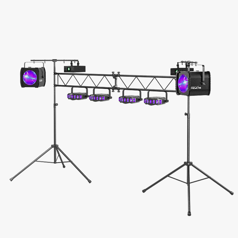 a  Dj Lighting Package Goalpost Trussing Stand Equipment laser spot projector  light holder stage Equinox Orion Audio Works dance dancing muisic karaoke club.jpg