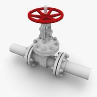 gate valve 3D models