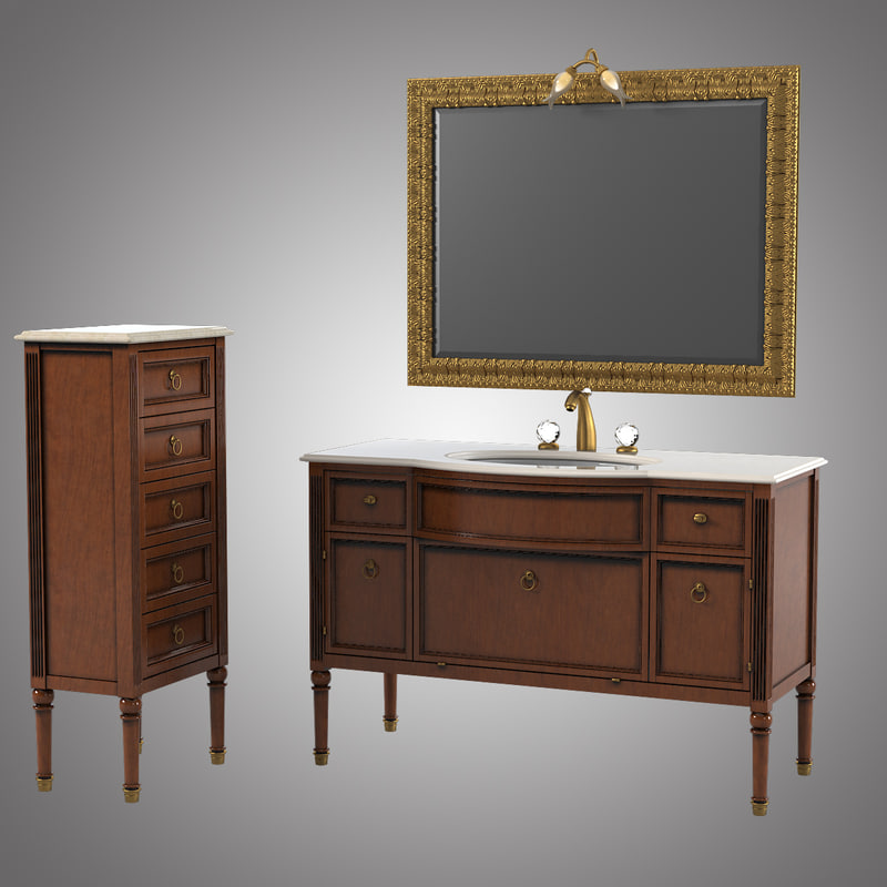 3d model lineatre loira bathroom furniture