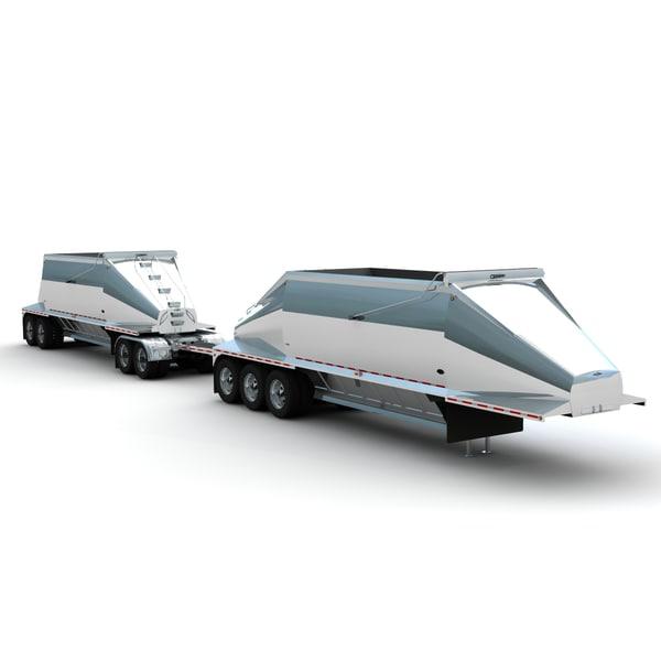 Beall Belly Dump Train 3D Models