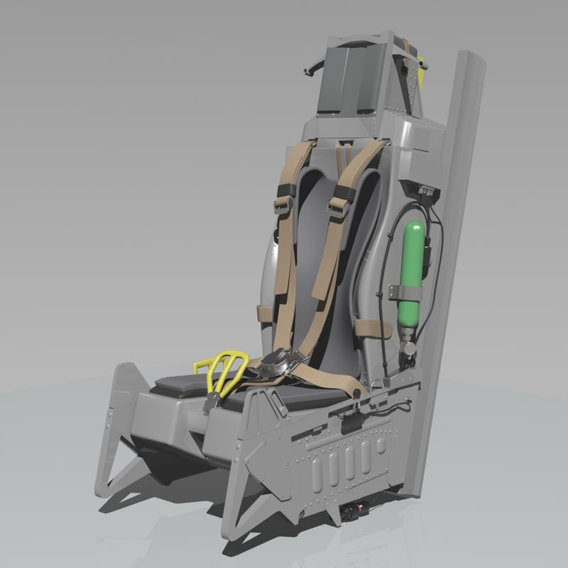 seat ejection Ejection seat based on the f35 lightning original seat.