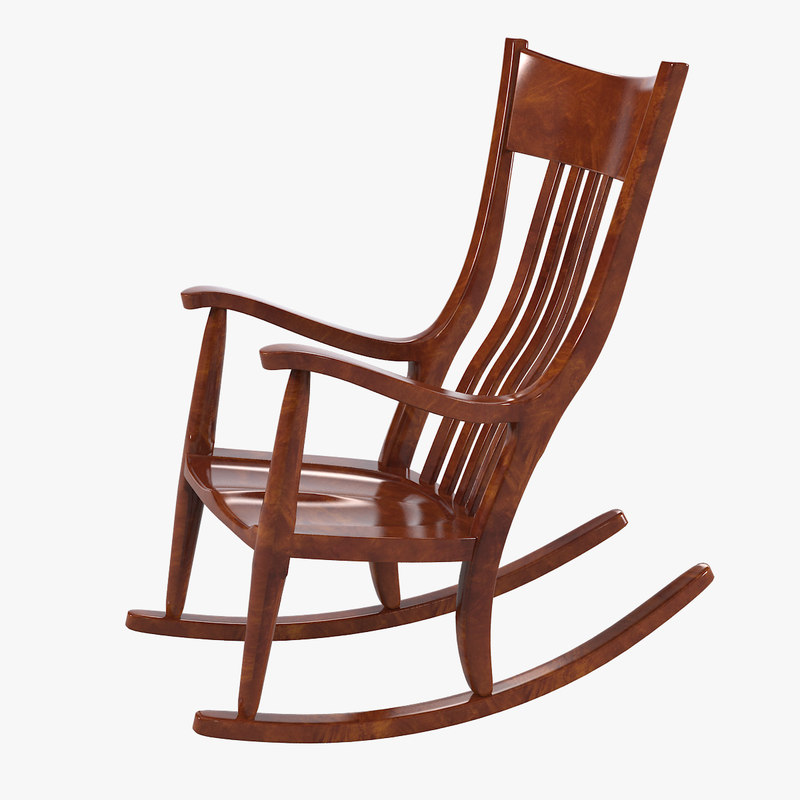 3d model mesquite rocking chair