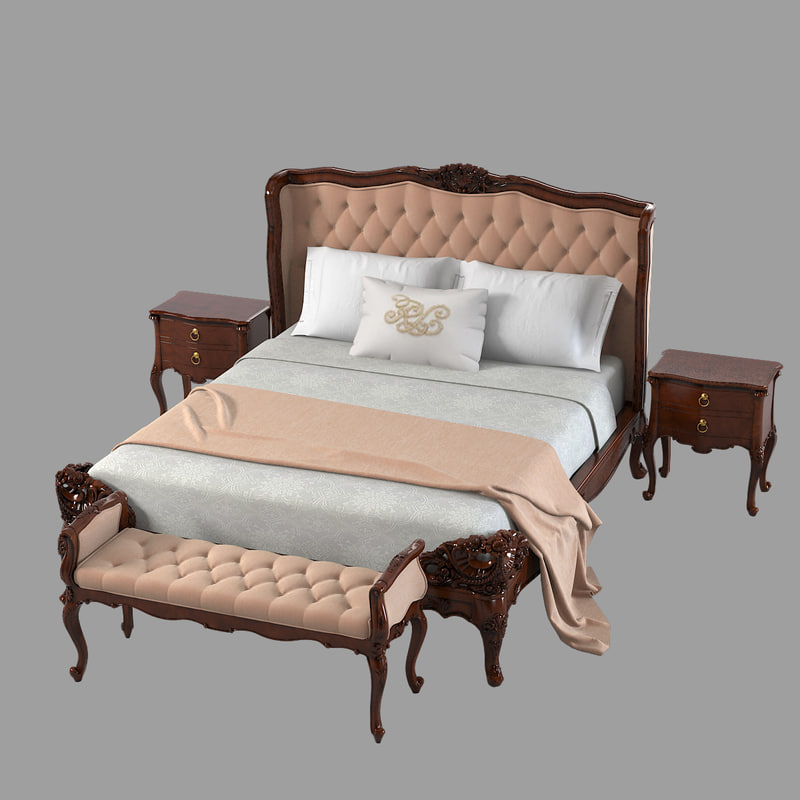 3ds max louis xv 15l 880 1 bedroom furniture