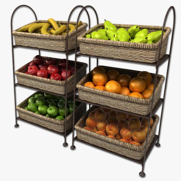 fruit baskets 3D Models