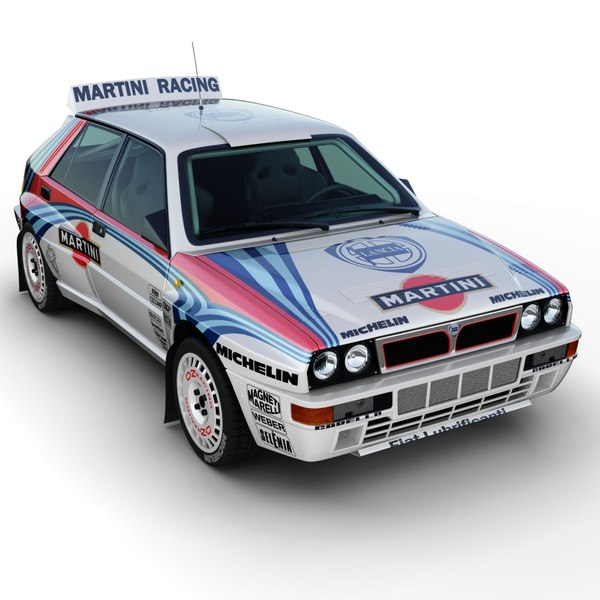Lancia Delta Rally Car Texture Maps