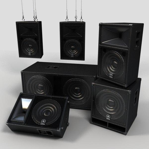Concert Speakers 3D Models