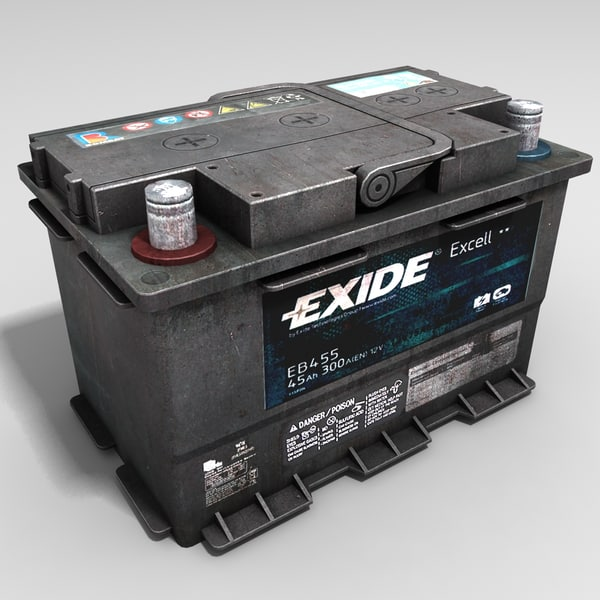 Car Battery 3D Models