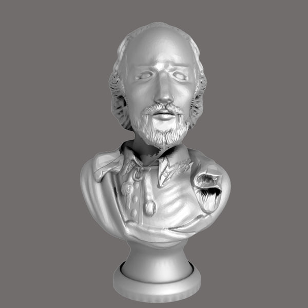 William Shakespeare Bust 3D Models