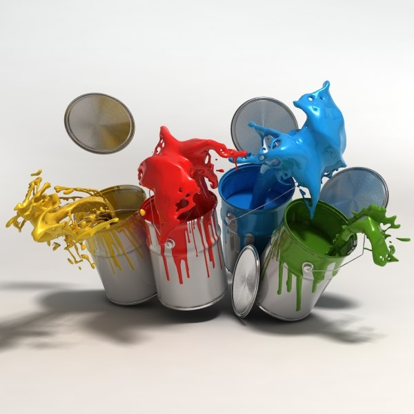 Tin of paint 3D Models