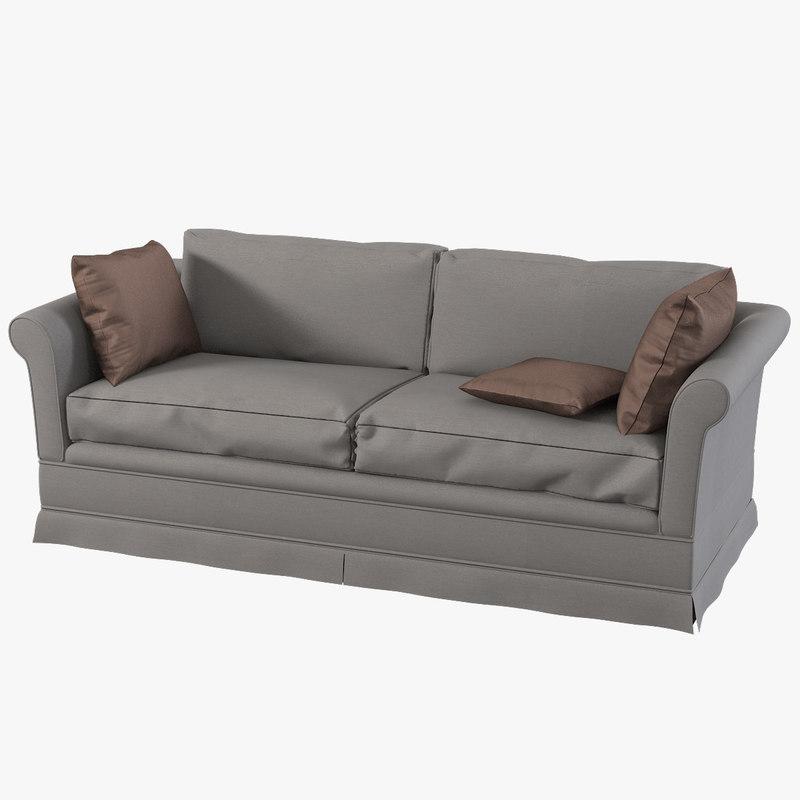 3d Traditional Sofa Model