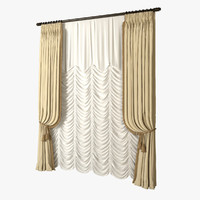 french curtain 3D models