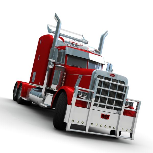 Peterbilt 379 BIG RED 3D Models