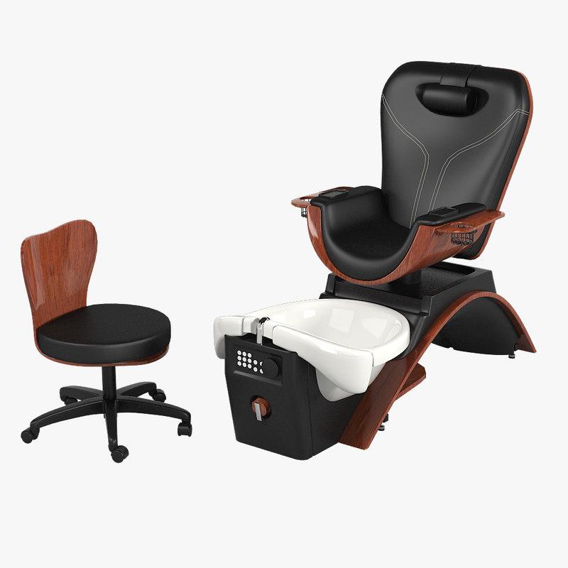 Maestro pedicure spa 3d obj for Nail salon equipment
