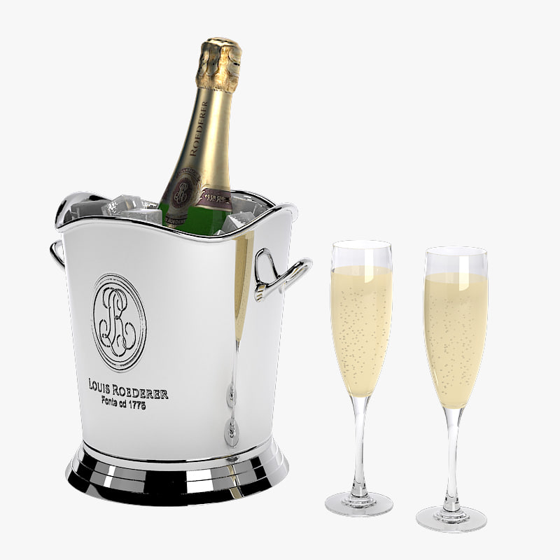 a champagne in ice bucket cooling glass champange louis roederer sparkling vine elite luxury moet.jpg