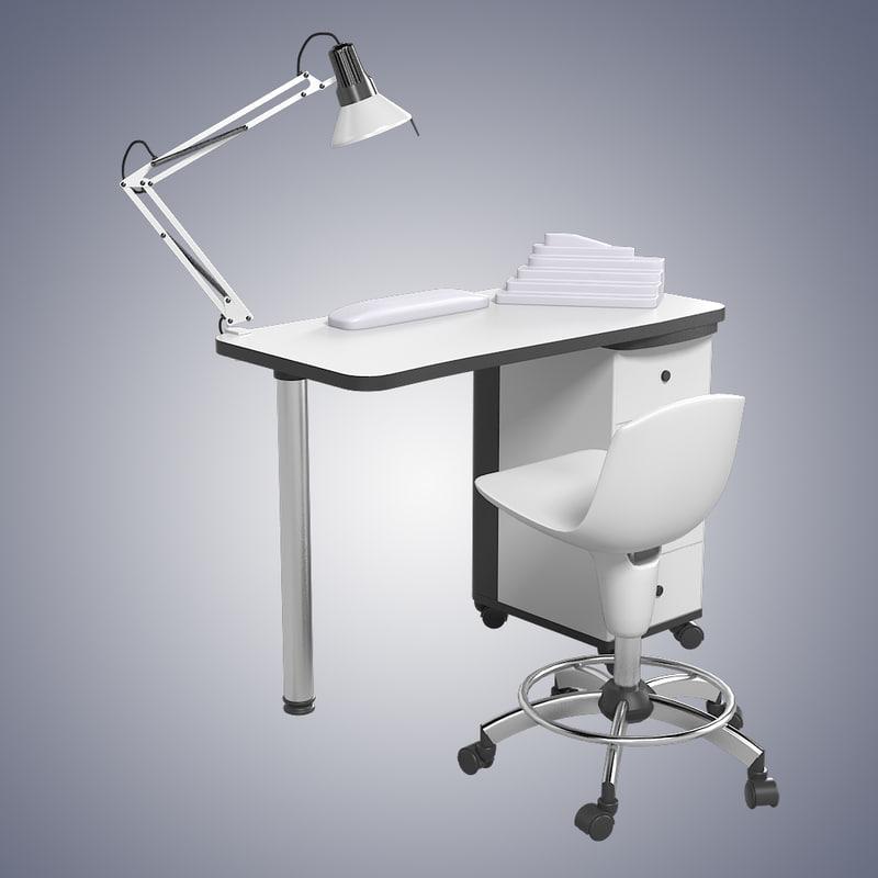 Artechno 204 l manicure max for Nail desk light
