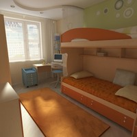 children's bedroom 3D models