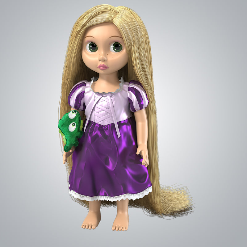 b rapunzel toy doll girl disney children hair tall play beauty000 4.jpg