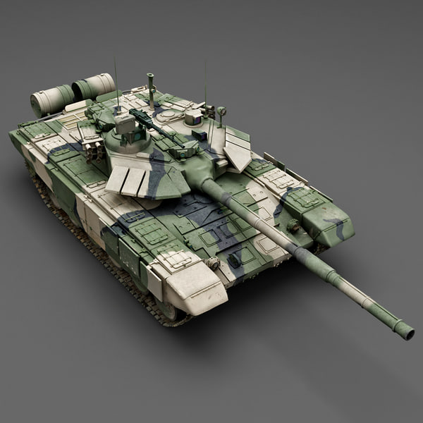 Battle Tank T-90 3D Models