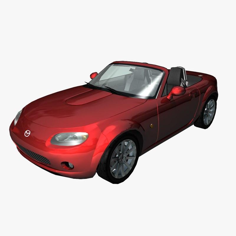 3d model sports car mazda. Black Bedroom Furniture Sets. Home Design Ideas