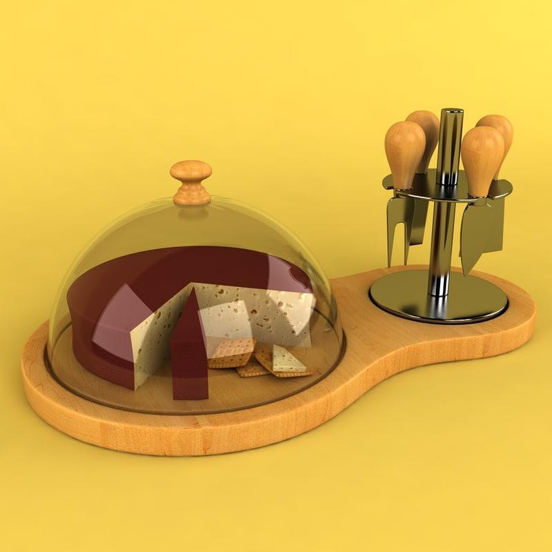 cheese board dome 3d model