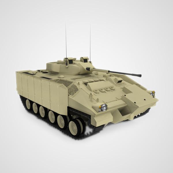 British Warrior Infantry Tank 3D Models