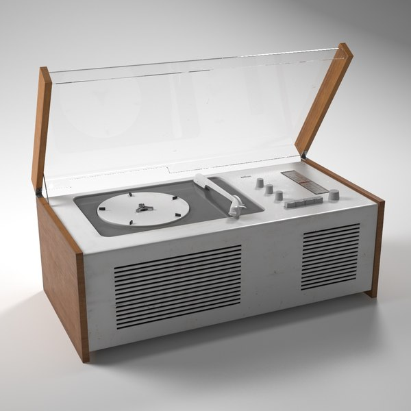 SK4 Record Player (Snow White's Coffin) 3D Models