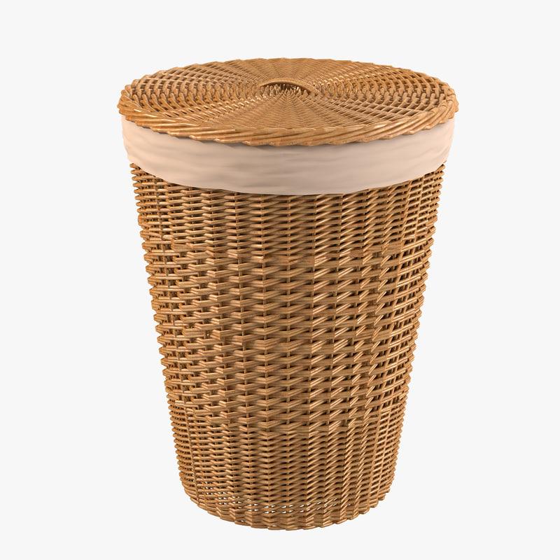 a Bathroom Wicker Bin basket bag case woven fiber rattan bin storage country container decorative decor rattan0001.jpg