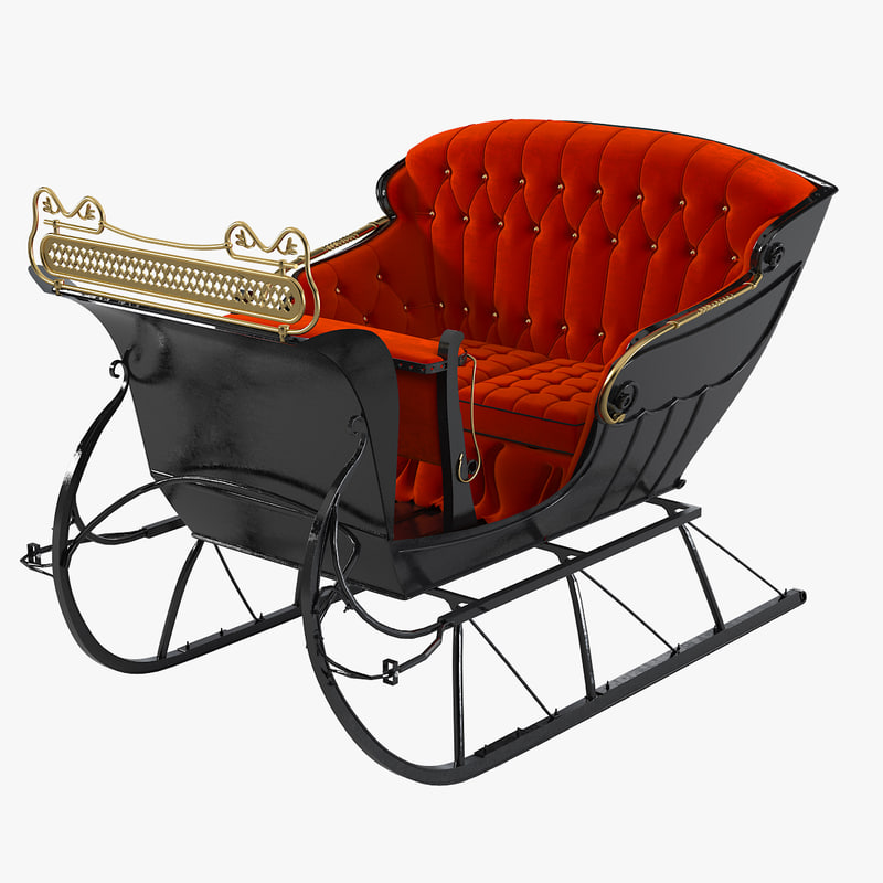 a One horse open sleigh sled 1800 sharp cutter back button seats great vintage retro old antique traditional christmas new year0001.jpg