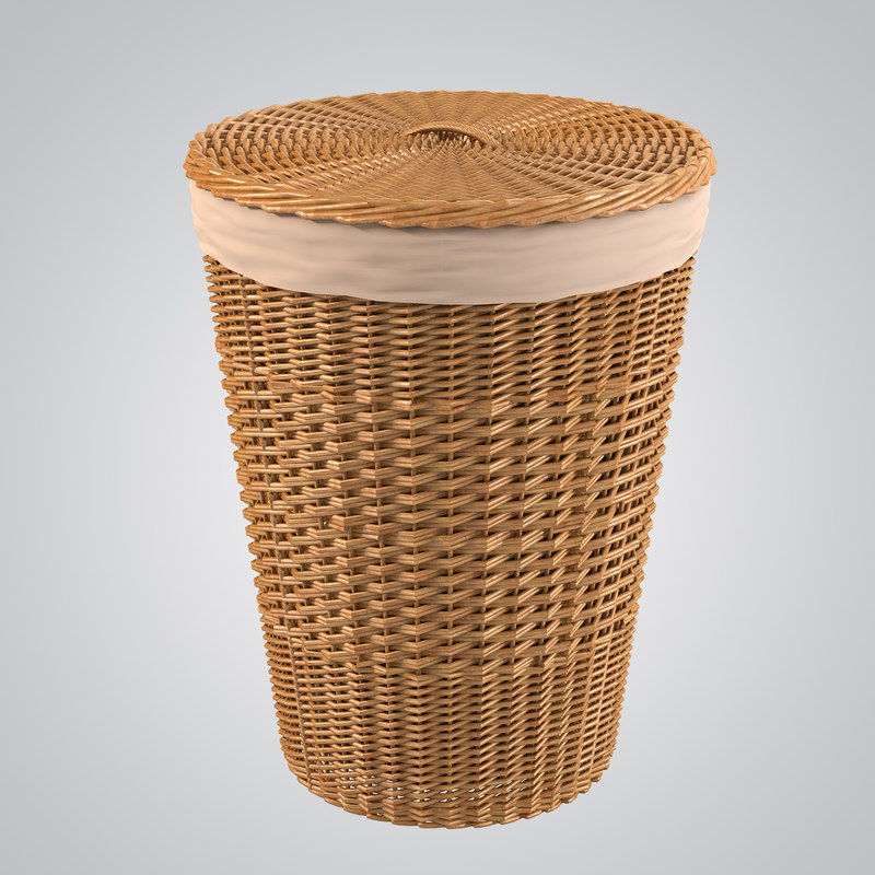 b Bathroom Wicker Bin basket bag case woven fiber rattan bin storage country container decorative decor rattan0001.jpg