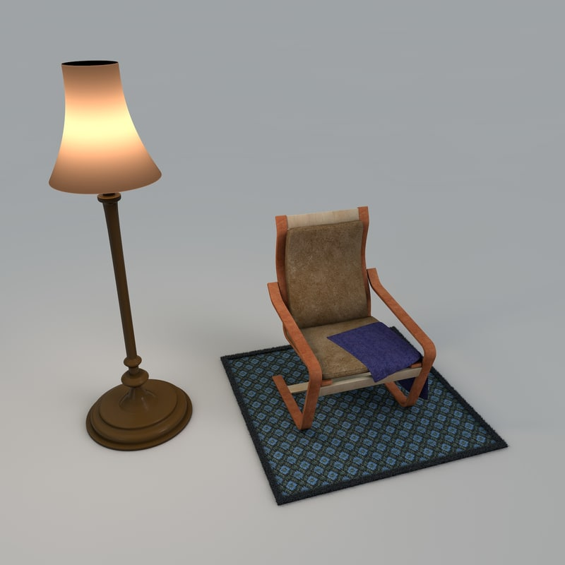 Chair and Floorlamp