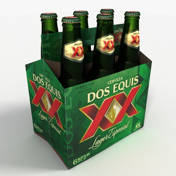 Six Pack of Dos Equis Beer 3D Models