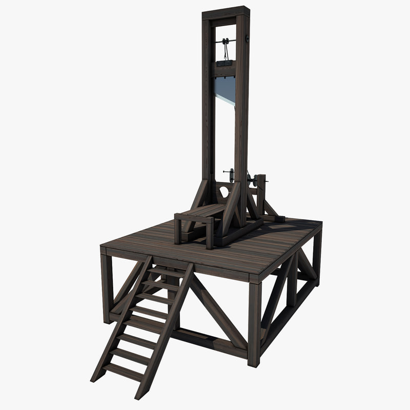 3d guillotine wood model. Black Bedroom Furniture Sets. Home Design Ideas