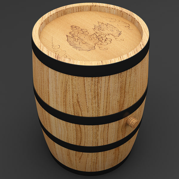 Wine Barrel 5 3D Models
