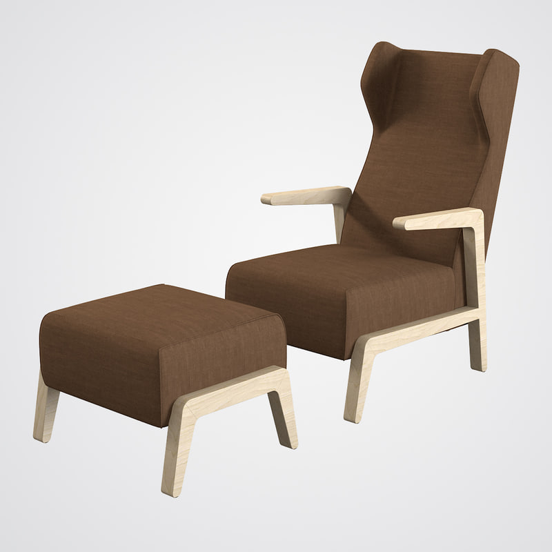 3ds max scancal boomerang chill armchair for Famous modern chairs