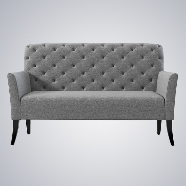 West Elm Elton Settee 3D Models