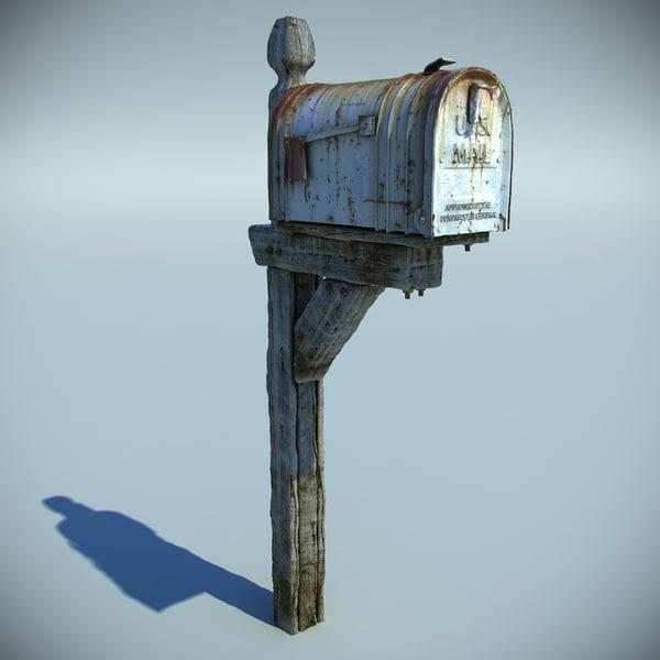 Old Mailbox 3D Models