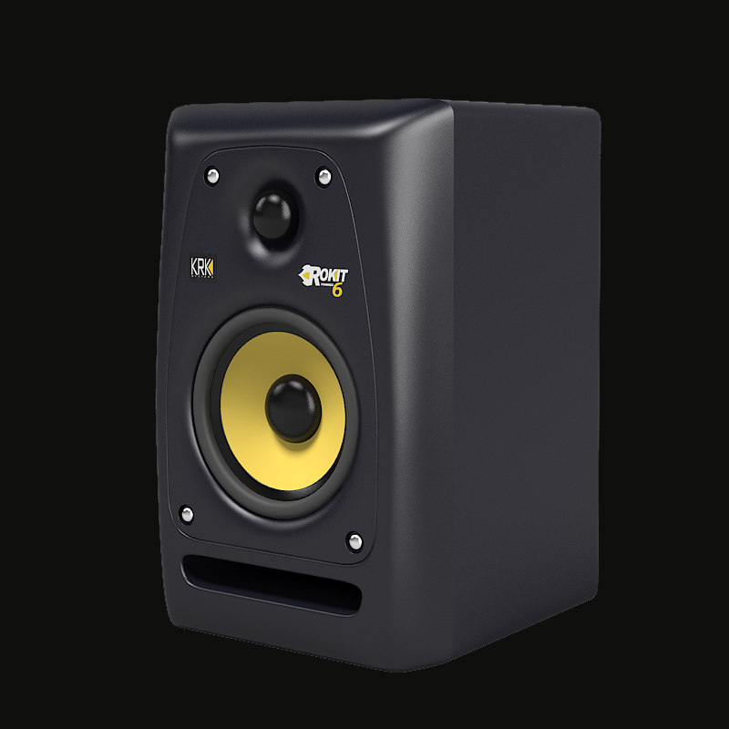 c Krk pr6 srudio monitor powered amp speaker muisic stereo hifi professional audio home speaker .jpg