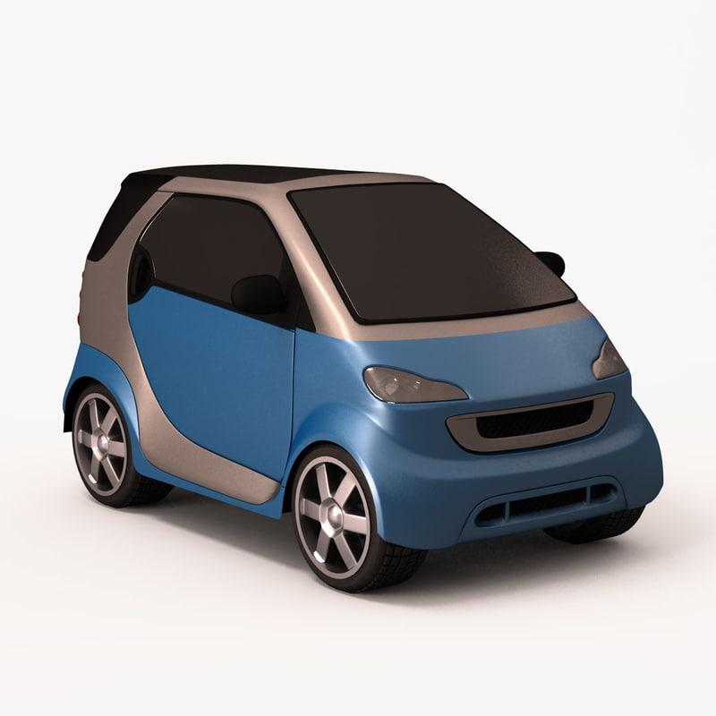 Smart Forfour 2006 3d Model: 3d Model Smart Car