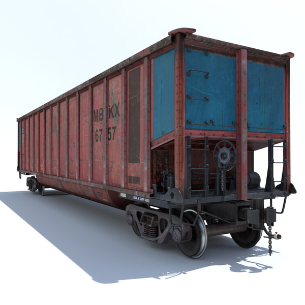 Train Coal Car 3D Models
