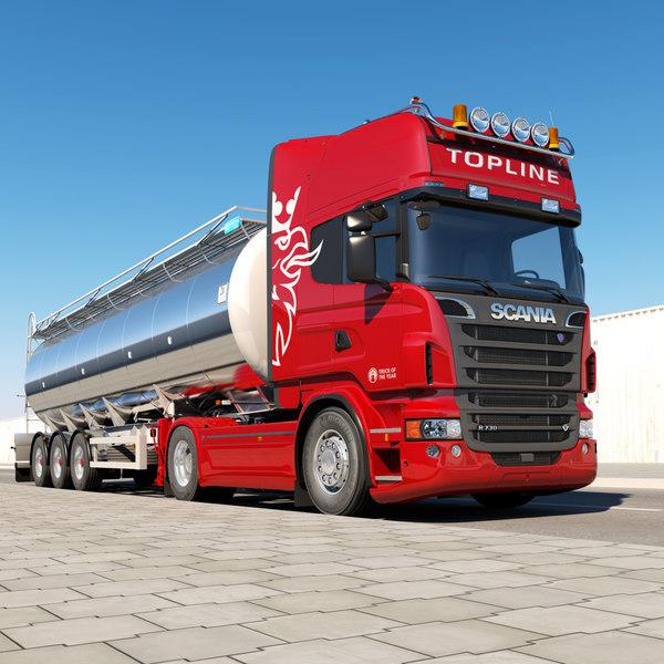 Scania R 730 Tanker 3D Models