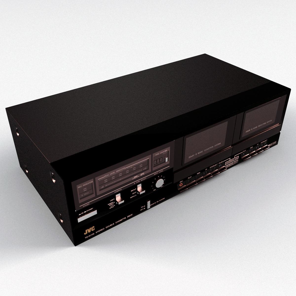 Stereo Double Cassette Tape JVC
