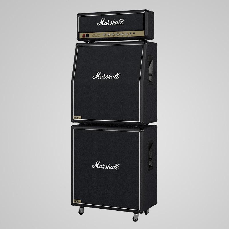 3ds max marshall stack. Black Bedroom Furniture Sets. Home Design Ideas