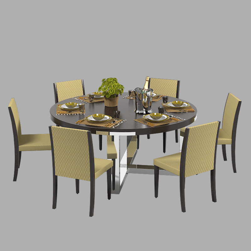 3d misuraemme dining table set model for Dining table models