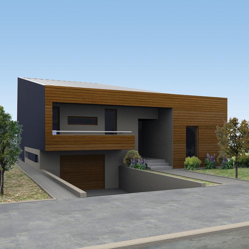 3d modern house model for Modern house 46