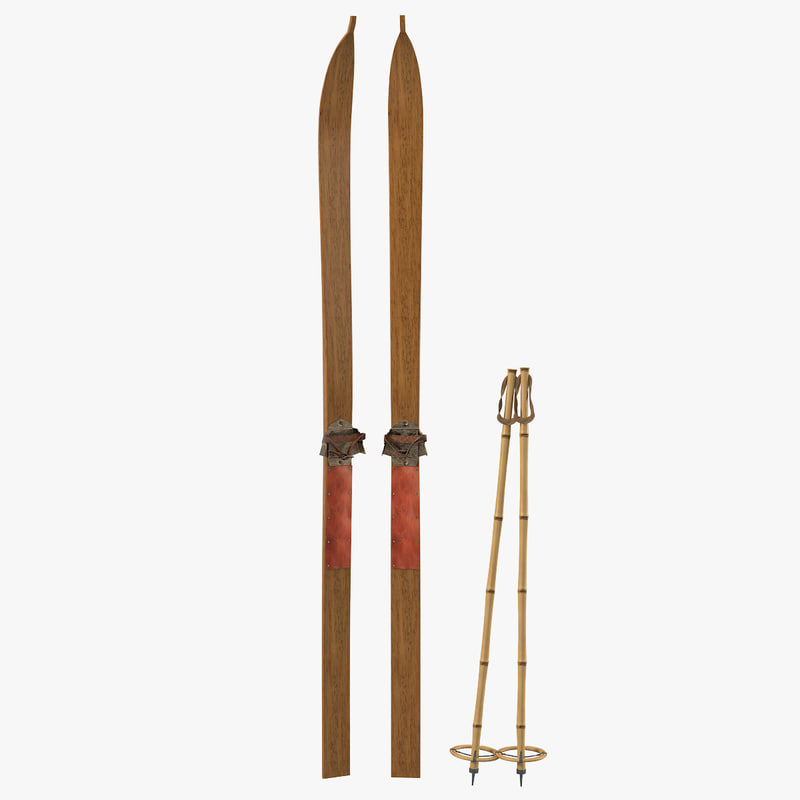 a Antique Lung Skis & Poles winter sport vintage traditional aged old retro0001.jpg