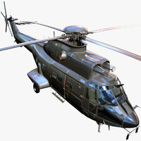 Eurocopter AS332 3D models