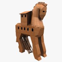 trojan horse 3D models