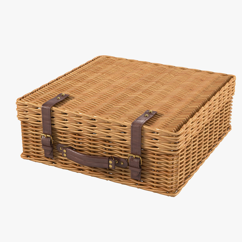 a picnic wicker suitcase baskert bag case  gift flower basket woven fiber rattan bin storage country container decorative decor 0001.jpg